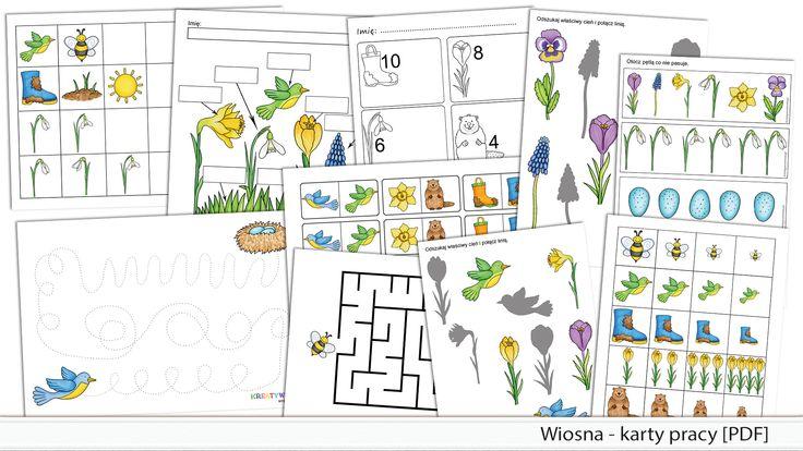 Wiosna - karty pracy [PDF]