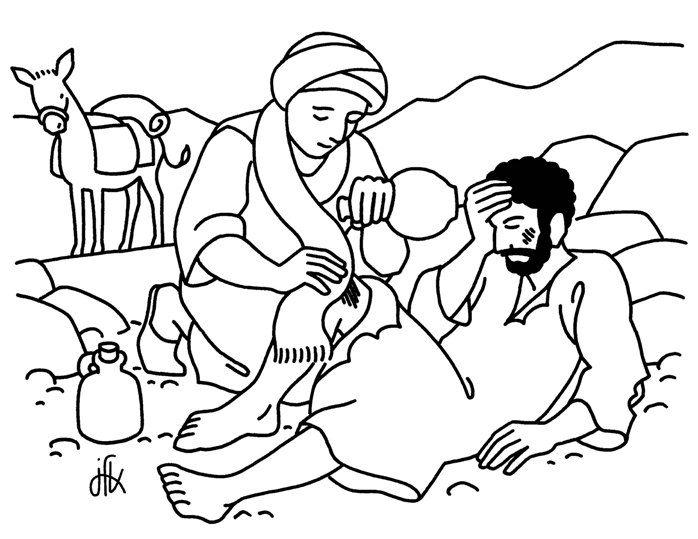 The Good Samaritan Coloring Page Parable of the Good Samaritan Coloring Page  Good
