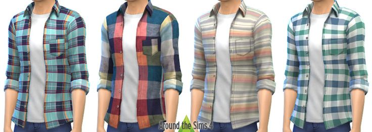 Around the Sims 4 | Custom Content Download | Clothing | Male: Open H&M Shirt
