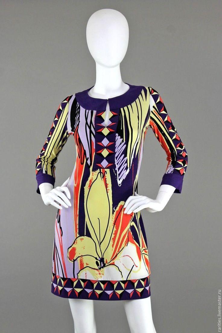 Купить Платье Цветочная абстракция,Ali Ro,США,яркие цветы,принт,короткое
