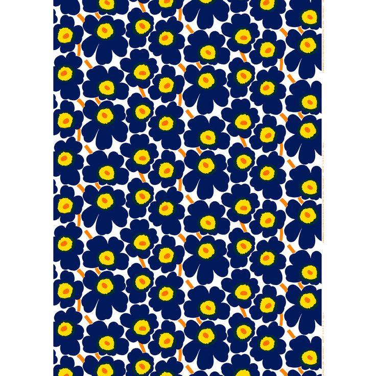 Marimekko Pieni Unikko Indigo Cotton Fabric