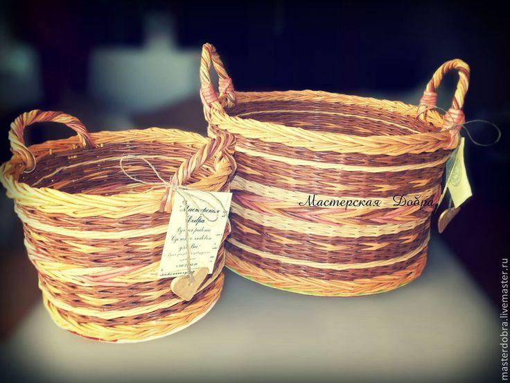 Купить Корзины плетеные с ручками, любые размеры и формы - садовая корзина, плетеные изделия, удобная