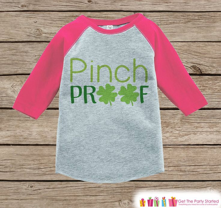Girls St Patricks Day Outfit - Pink Raglan Shirt - Pinch Proof Pink & Green Onepiece - St Patricks Shirt for Baby Girl - Holiday Raglan Tee