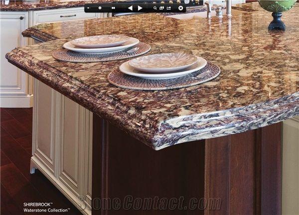 Cambria Waterstone Collection Countertop, Brown Granite Countertop