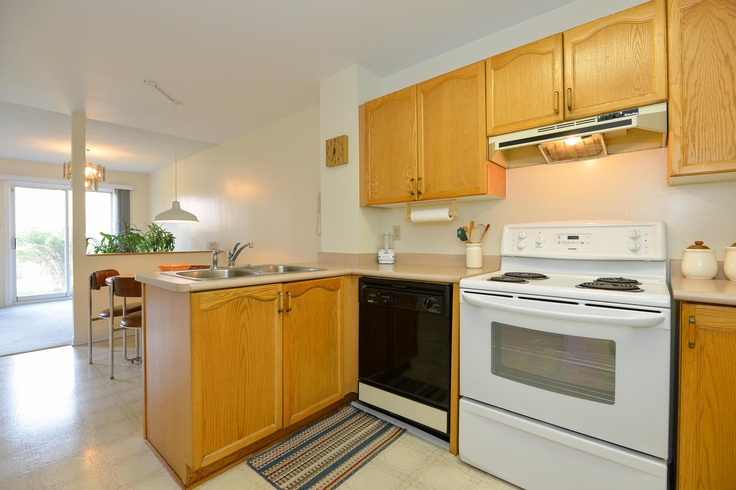 Modern kitchen includes all appliances and features a pantry as well as an eat-in area for your kitchen table.