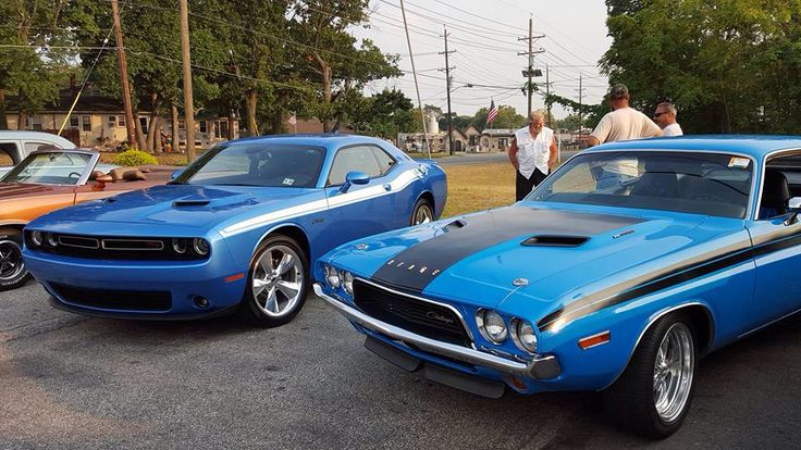 Old Vs New Mopar Challenger B5 Blue Dodge