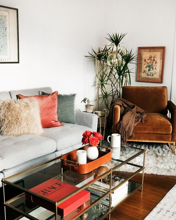 Decor Design Green And Brown Living Room Decor Interior Design #boho #living Room Great House Decorations