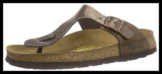 Papillio Gizeh Suede Sandales Shiny Brown Size 38 M EU
