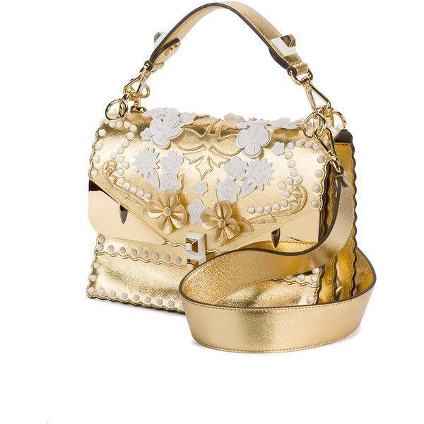 bolsa Bug bolsos Floral S… gustó Me con 5 950 de bolso Fendi Polyvore en blanco I bolsos ❤ Kan hombro Gold Bolsa qCSSa4EUw