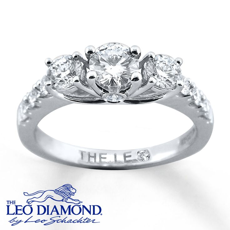 Kay - 3-Stone Diamond Ring 1 carat t.w. 14K White Gold