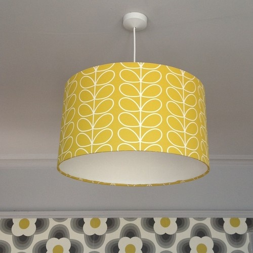 Retro Orla Kiely Inspired lampshade