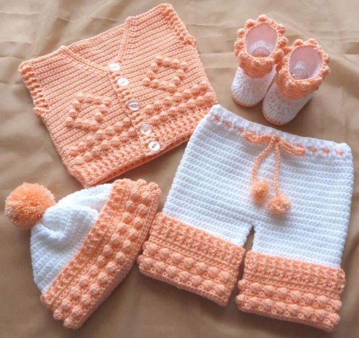 Tunus İşi Bebek Elbiseleri