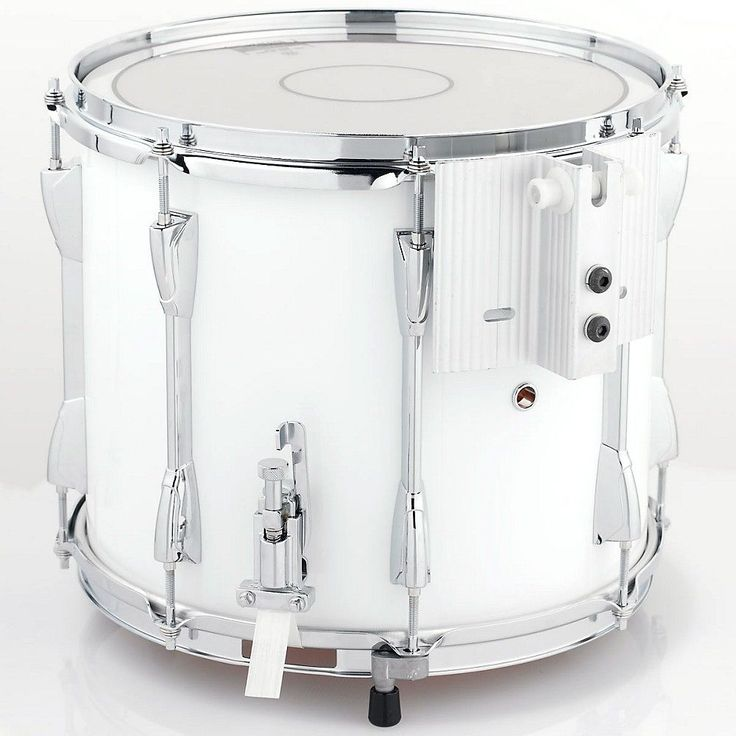Yamaha Power-Lite Marching Snare Drum White Wrap 13 in.
