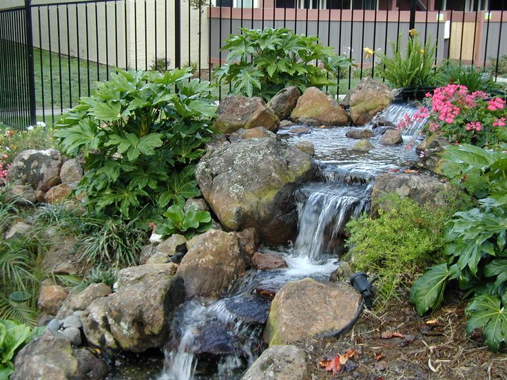 Waterfall Landscape Design Ideas soothing backyard waterfall ideas graceful backyard waterfall Landscape Water Features Alexander Sons Water Feature Fall Landscaping Services Portfolio Backyard Designsbackyard Ideasgarden