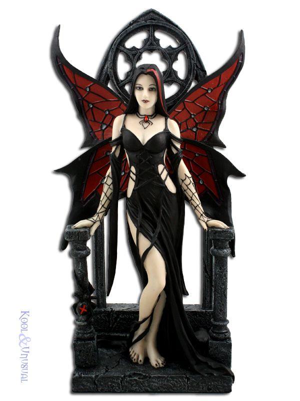 Fairy Statues For Sale | Anne Stokes Statue: Aracnafaria Gothic Fairy Figurine with Black ...