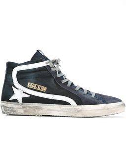 'Slide' hi-top sneakers