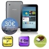 Tablette Tactile avec écran 7 Silver - Processeur Dual Core 1Ghz - Stockage 8 Go - Webcam 3 Mpixels arrière, avant 0.3 Mpixels - WiFi 802.11 b/g/n - Bluetooth 3.0 - Port MicroSD (jusqu'à 32go) - Batterie 7000 mAh - Android 4.0 Ice Cream Sandwich -
