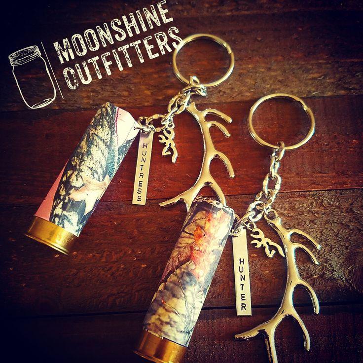 Hunter Huntress Mossy Oak Camo Keychains
