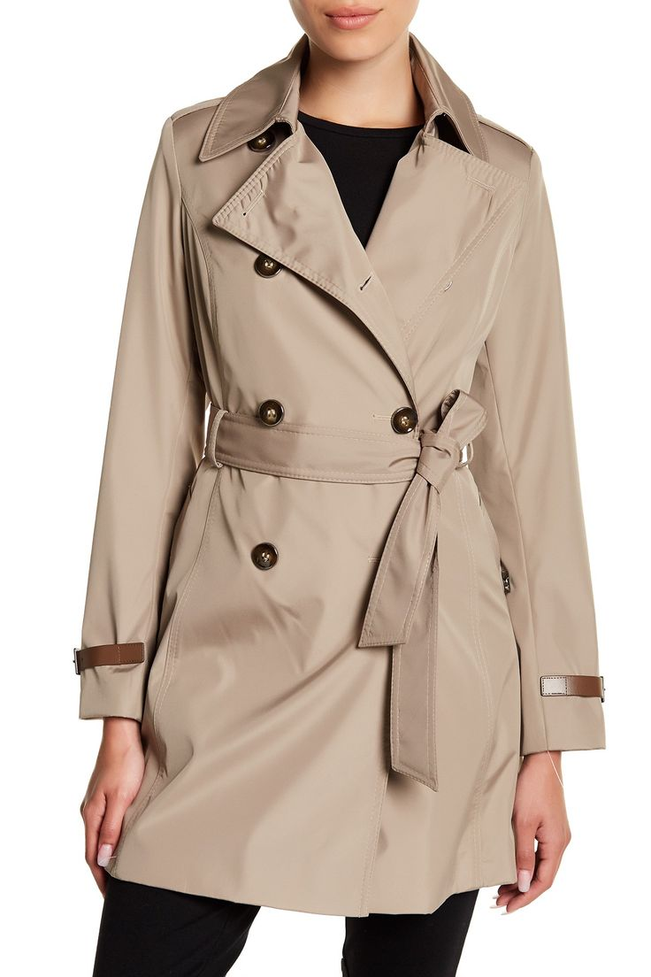 Double Breasted Trench Coat (Petite)
