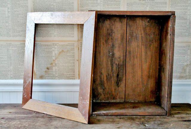 DIY Primitive Cabinet aus einer umfunktionierten Holzkiste und …   – Fix it Up