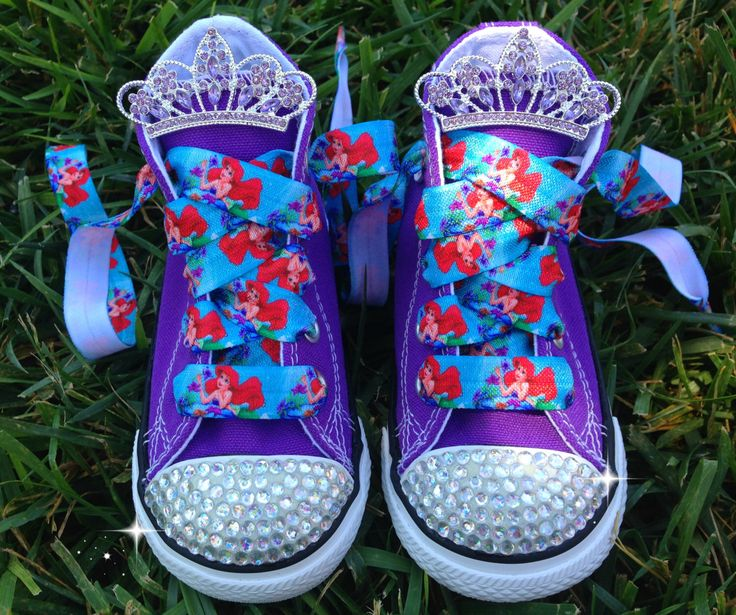 ARIEL SHOES - Little Mermaid Party - Ariel Costume - Ariel birthday outfit - Little Mermaid Birthday - Bling Converse - Infant/Toddler/Youth by SparkleToes3 on Etsy https://www.etsy.com/listing/198848486/ariel-shoes-little-mermaid-party-ariel