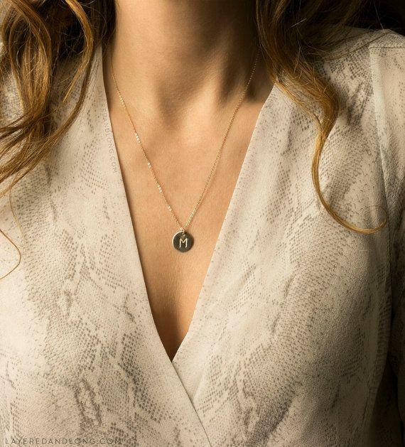 Collier disque ultime / cercle collier pendentif par LayeredAndLong