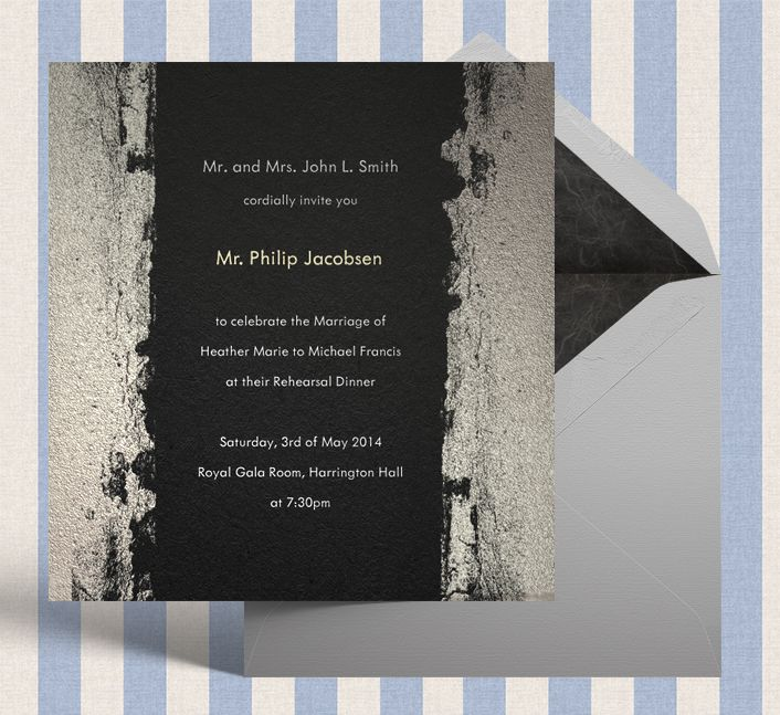 23 best formal classic invitations images on pinterest formal black formal invitation for weddings with black and grey border stopboris Choice Image