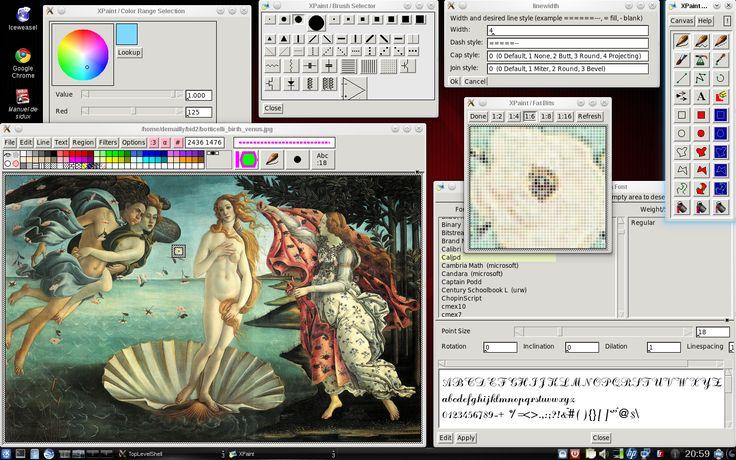 Screenshot of Xpaint-2.9.1