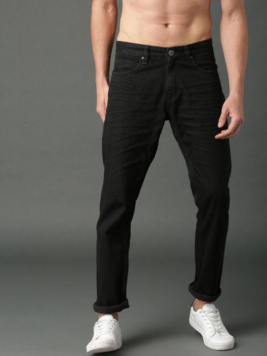 fa13ee62242 Roadster Men Black Slim Fit Mid-Rise Clean Look Jeans -   779 ...
