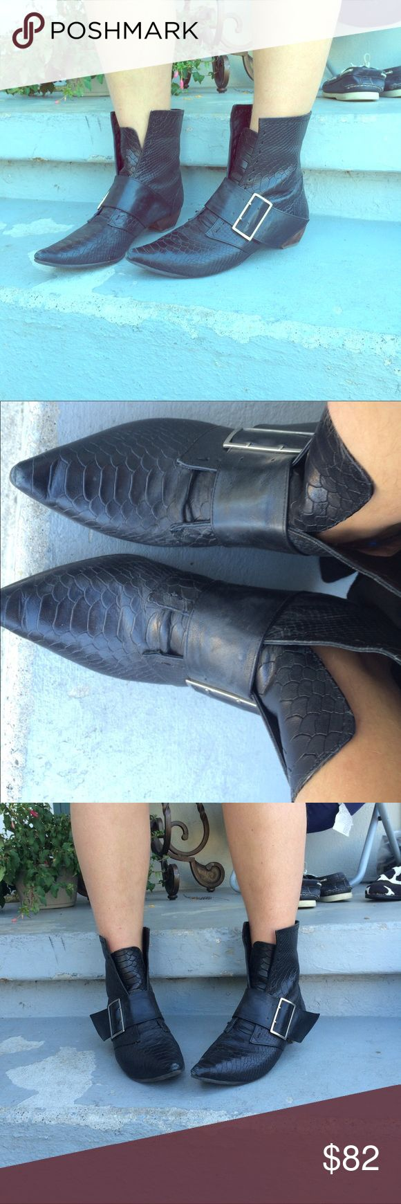 Beautiful brand new John Fluevog boots! Beautiful barely worn John Fluevog boots with buckle. John Fluevog  Shoes Ankle Boots & Booties