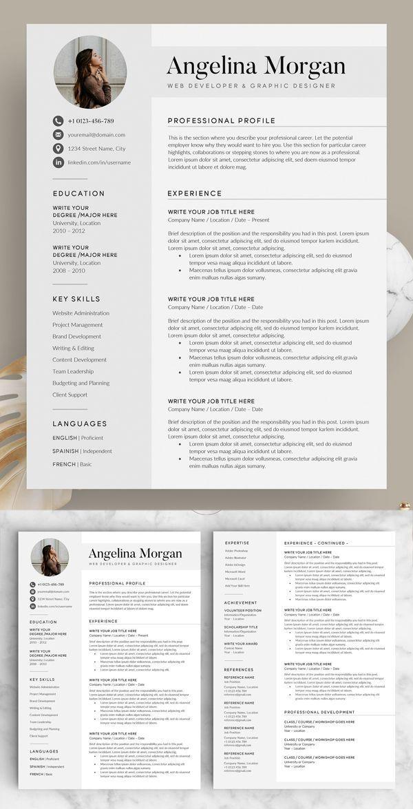 33 Creative Resume Templates Professional Fun In 2020 Resume Design Creative Resume Design Resume Template Word
