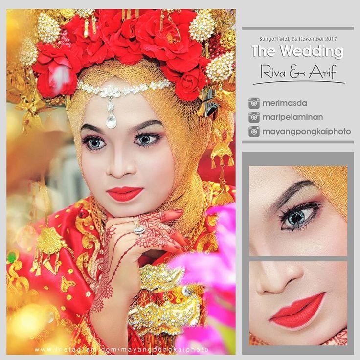 Wedding day   Riva  Arif  WO : @maripelaminan MUA :@merimasda Hijab/Sunting : @ellimasda Photo by @mayangpongkaiphoto  @mayangpongkaiphoto @mayangpongkaiphoto @mayangpongkaiphoto  #henna #bainai #malambainai #weddingday #akad #akadnikah #ijabkabul #mentulik #lipatkain #sungaipagar #penghidupan #lubuksakai #binabaru #simalinyang #riau #kampar  #kamparkiritengah #kkt #kakiteng #mayangpongkai  #mayangpongkaiphoto