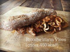 Broodje warm vlees (onder 450 kcal)