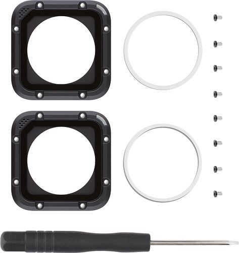 GoPro - Lens Replacement Kit for GoPro HERO4 Session Cameras - Black