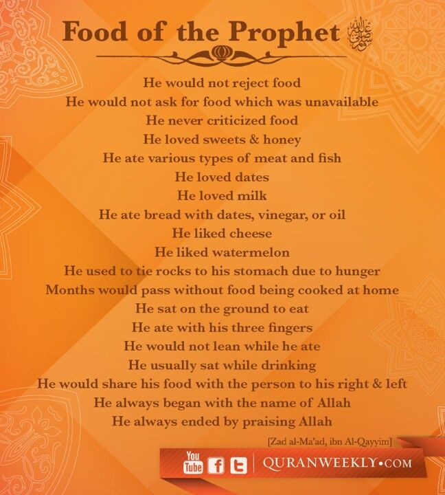 Food of the prophet Muhammad SAW