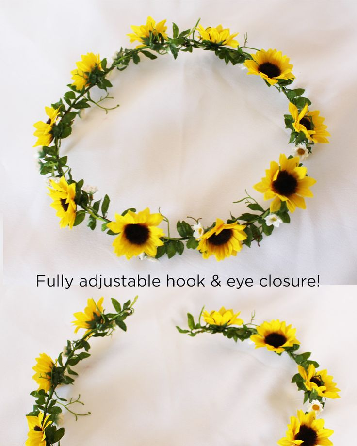 For Brynn!! Sunflower and Daisy Floral Crown | Afloral Wedding Flowers | Flower Girl Crowns