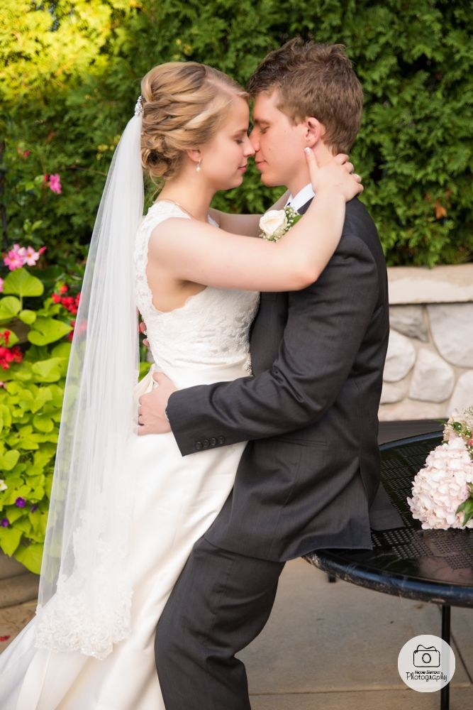 Love this romantic shot of the bride and groom