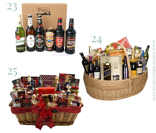 PresentesNatalNamorado_4 23. Kit com Cervejas Importadas  24. Kit com bebidas em geral  25. Cesta com chocolates e panetone