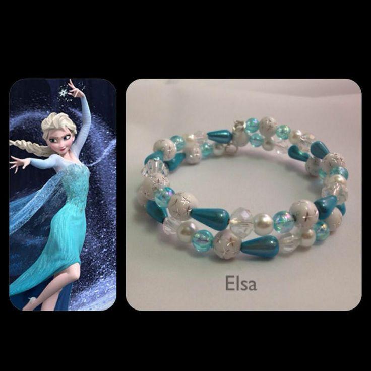 Disney's Frozen inspired custom made girls bracelet!