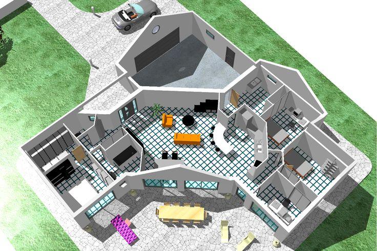 """Nous recherchons des plan de maison en v d'une surface d'environ 100m2 en plain pied. Avec une grande piece a vivre (salle salon cuisine) d'environ 50m2 avec ou sans cellier. Puis dans l'autre partie ...... (Forum """"Plans de maisons"""" - 33 messages)"""