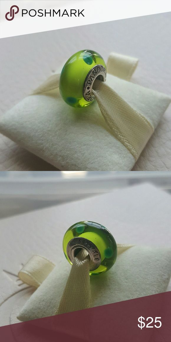 Pandora Dots Murano Charm 100% Authentic Pandora  Good condition  Properly Stamped Pandora stores offer lifetime free cleaning  No box included Bundle for discounts Pandora Jewelry Bracelets