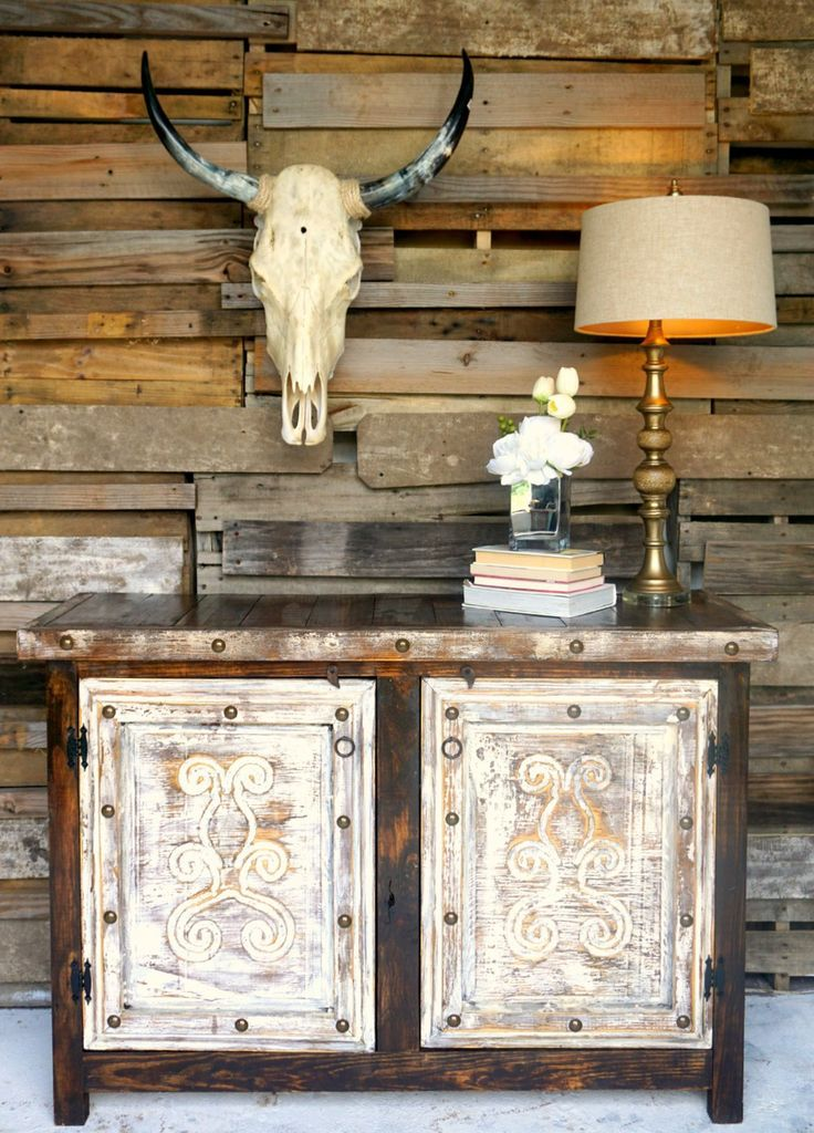 Scroll Carved Door Buffet - Sofia's Rustic Furniture; perfectly rustic and perfectly western.