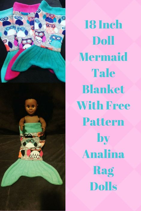 18  inch doll mermaid tale blanket with free pattern