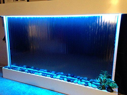 "Wall WaterFall XXL 52""x35"" Mirror , Color Lights Remote"