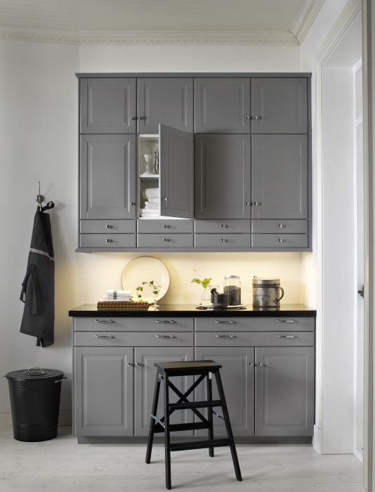 Black And Grey Kitchen Cabinets best 25+ grey ikea kitchen ideas only on pinterest   ikea kitchen