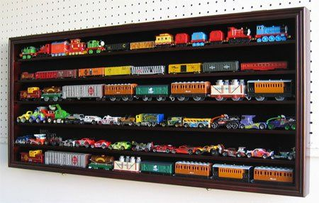 HO Scale Train Display Case Rack Cabinet Wall Mounted w/ UV Protection, Kid-Safe Door HW05-MAH DisplayGifts http://www.amazon.com/dp/B00AG8PCTK/ref=cm_sw_r_pi_dp_ohU4ub14YQ6TN