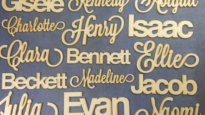 Customized Wood Name Cut Out $24.00 Alexis Mattox Design