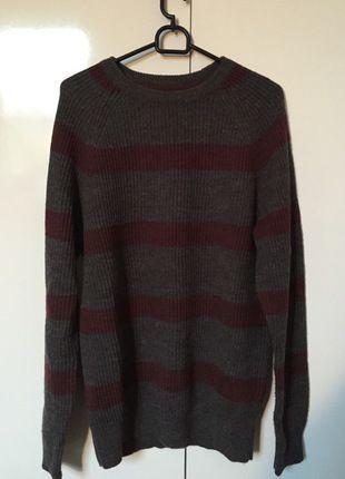 Kup mój przedmiot na #vintedpl http://www.vinted.pl/odziez-meska/swetry-w-serek/12563846-szary-sweter-hm
