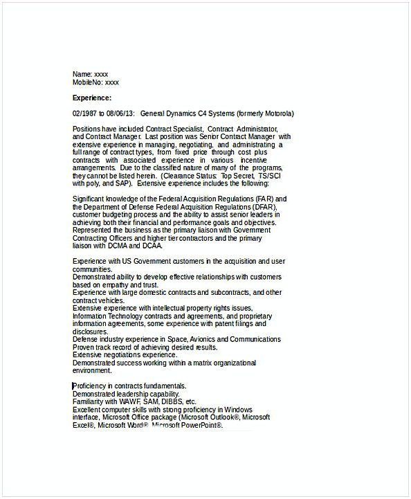 Senior Contract Manager Resume Resume For Manager Position Many Of Us Interested In Being Manager If You Are The One We Kindly Suggest You Read This Steps
