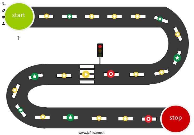 Thema verkeer: spel voor op het digibord